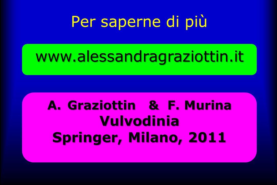 Per saperne di più www.alessandragraziottin.it Vulvodinia