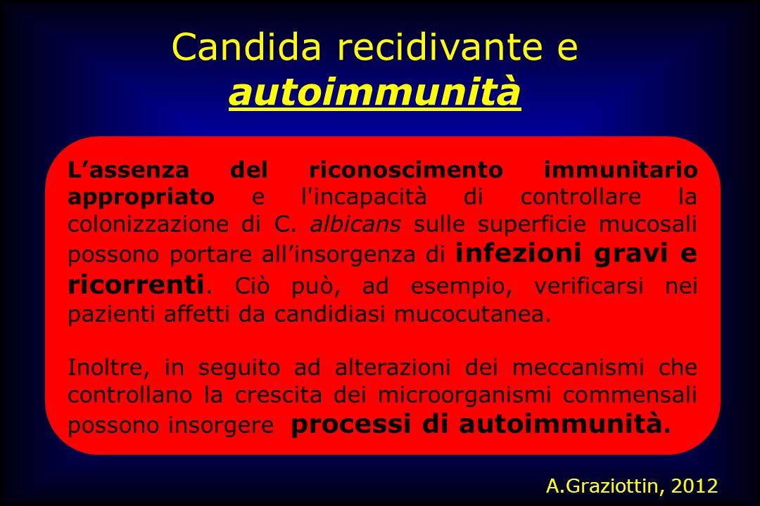 Candida recidivante e autoimmunità