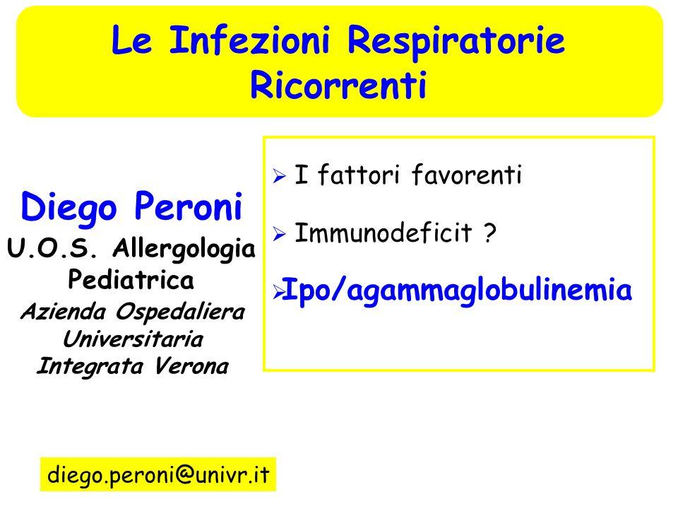 Le Infezioni Respiratorie Ricorrenti Diego Peroni