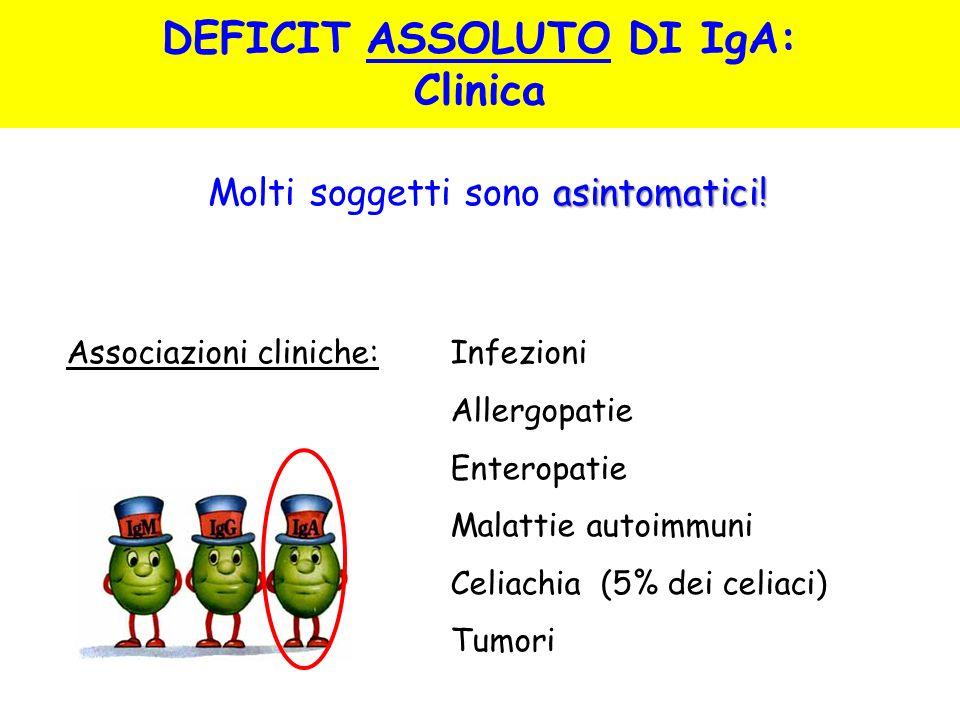 DEFICIT ASSOLUTO DI IgA:
