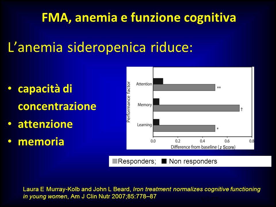 FMA, anemia e funzione cognitiva