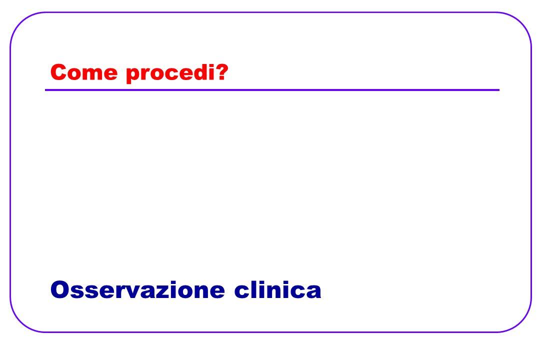 Come procedi Osservazione clinica