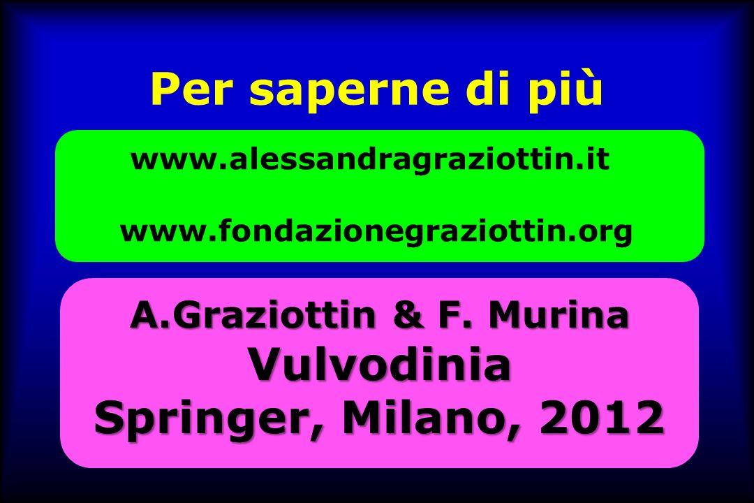 Per saperne di più Vulvodinia Springer, Milano, 2012
