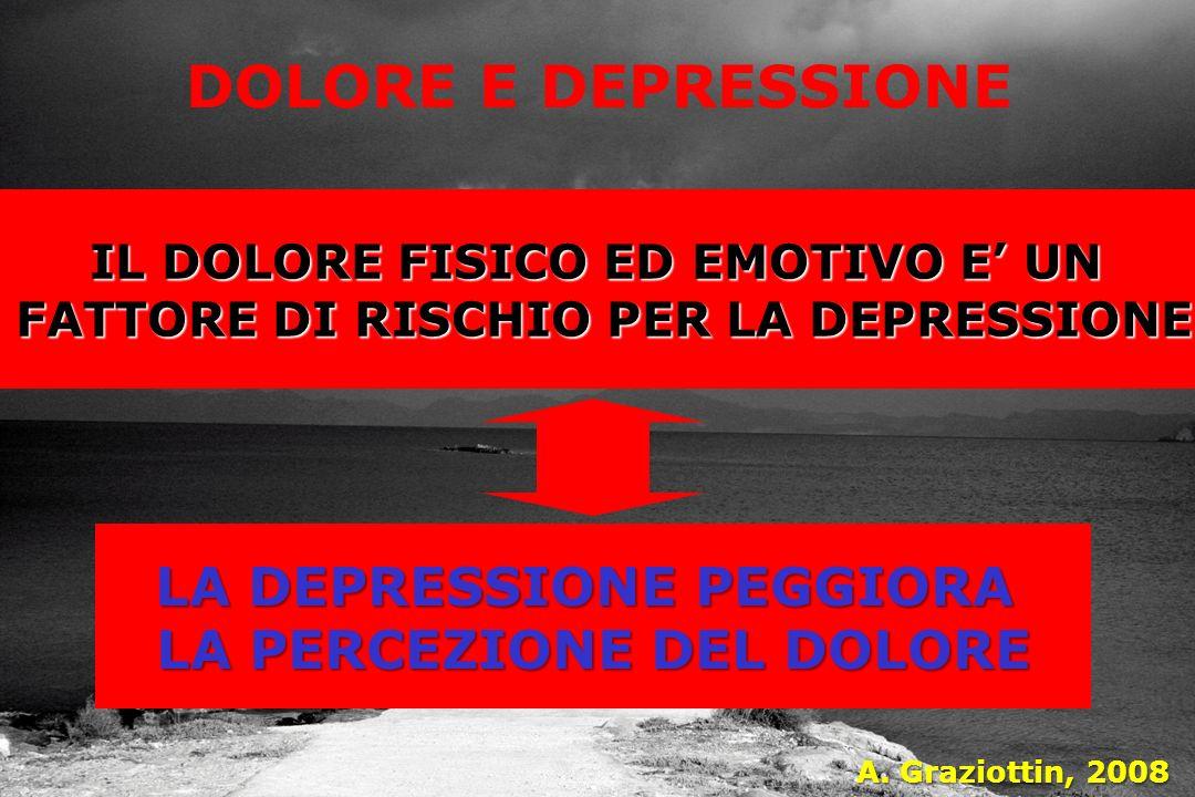 DOLORE E DEPRESSIONE LA DEPRESSIONE PEGGIORA LA PERCEZIONE DEL DOLORE