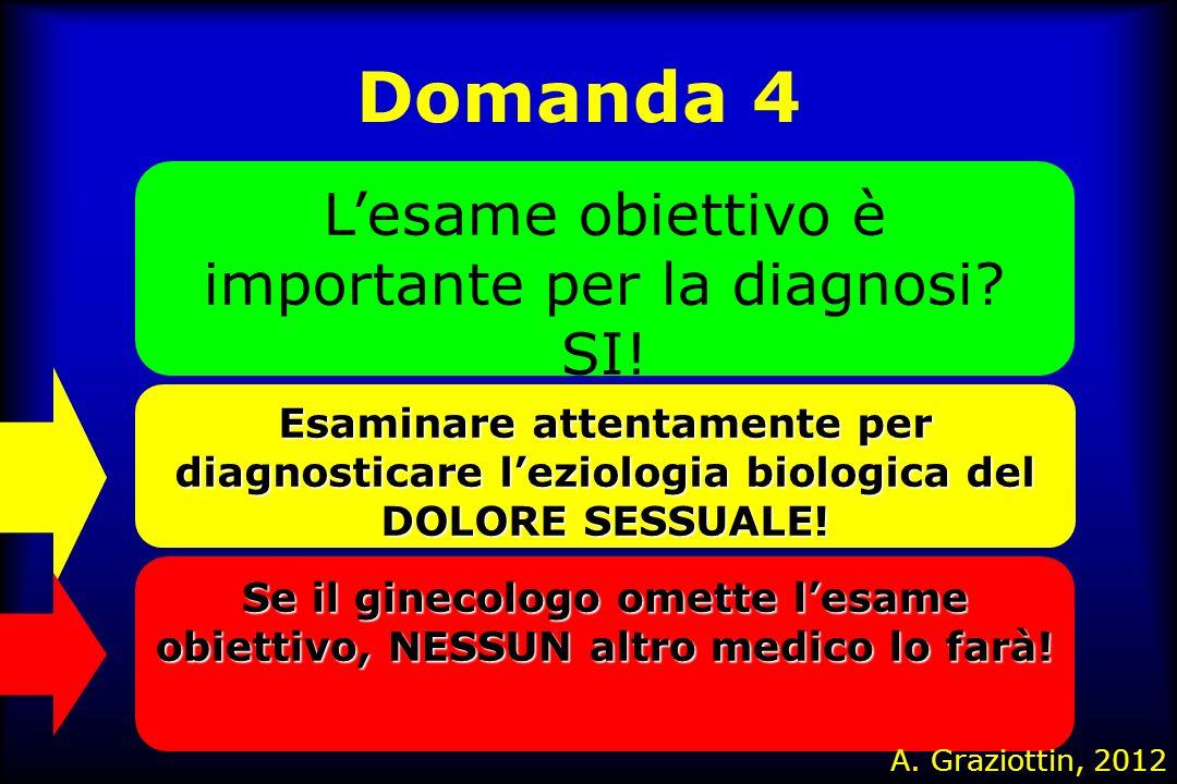 L'esame obiettivo è importante per la diagnosi SI!