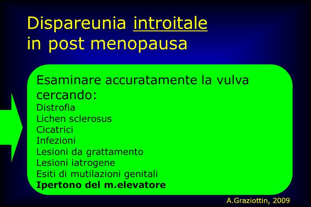 Dispareunia introitale in post menopausa