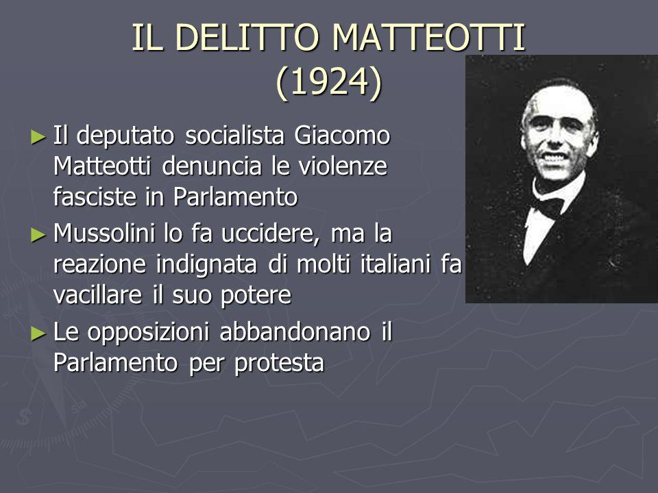 IL DELITTO MATTEOTTI (1924)