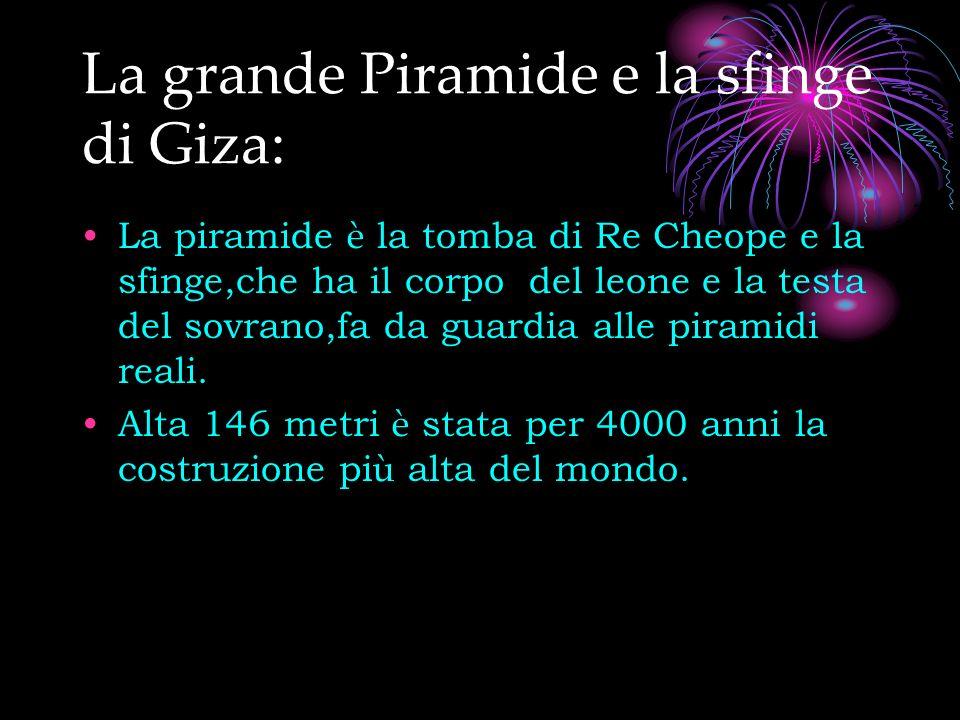 La grande Piramide e la sfinge di Giza:
