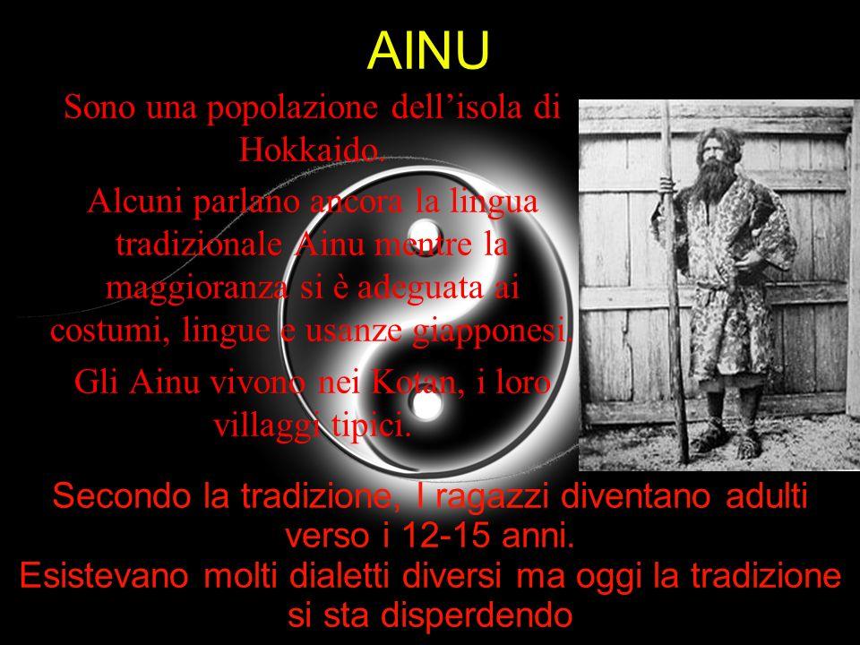AINU Sono una popolazione dell'isola di Hokkaido.
