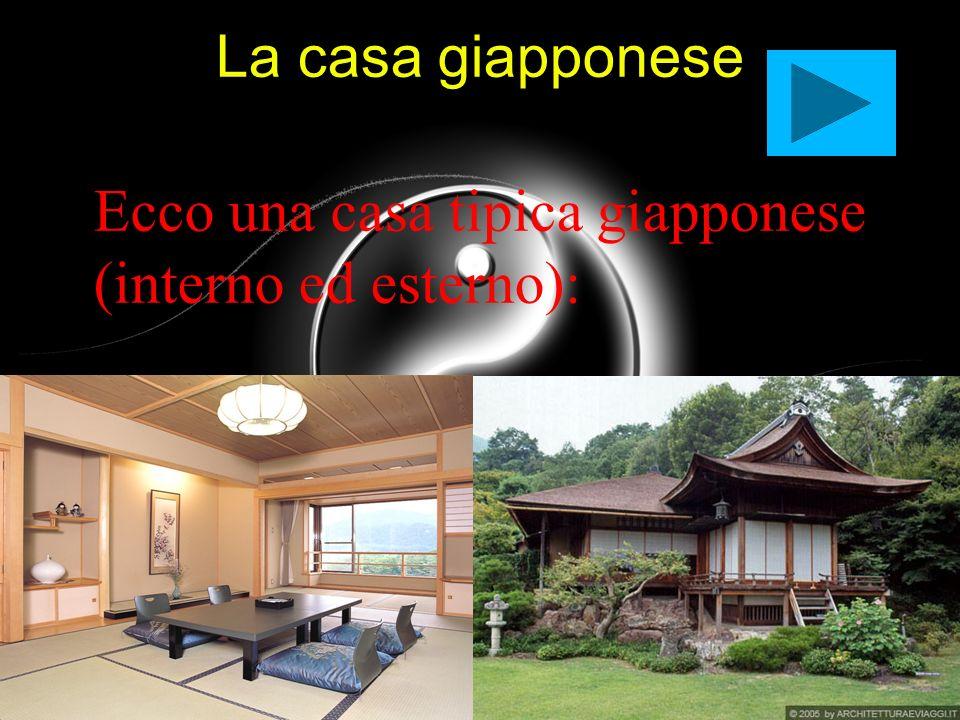 Ecco una casa tipica giapponese (interno ed esterno):