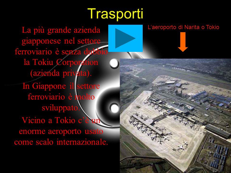 Trasporti La più grande azienda giapponese nel settore ferroviario è senza dubbio la Tokiu Corporation (azienda privata).