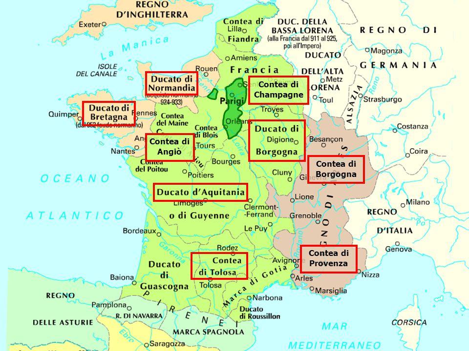 Contea di Champagne Contea di Angiò Contea di Borgogna Contea di Provenza
