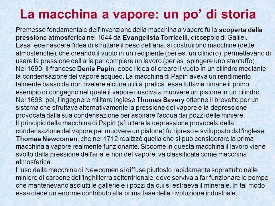La macchina a vapore: un po' di storia