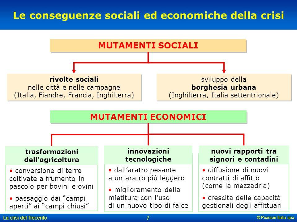 Le conseguenze sociali ed economiche della crisi