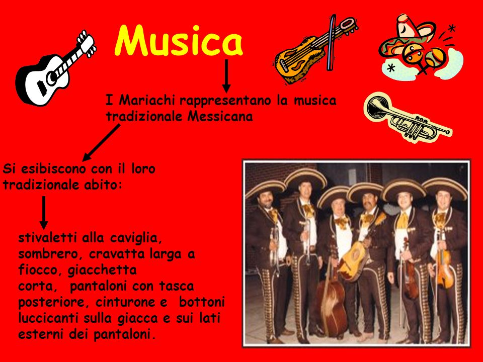 Musica I Mariachi rappresentano la musica tradizionale Messicana