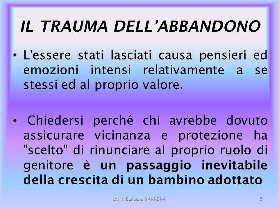 IL TRAUMA DELL'ABBANDONO