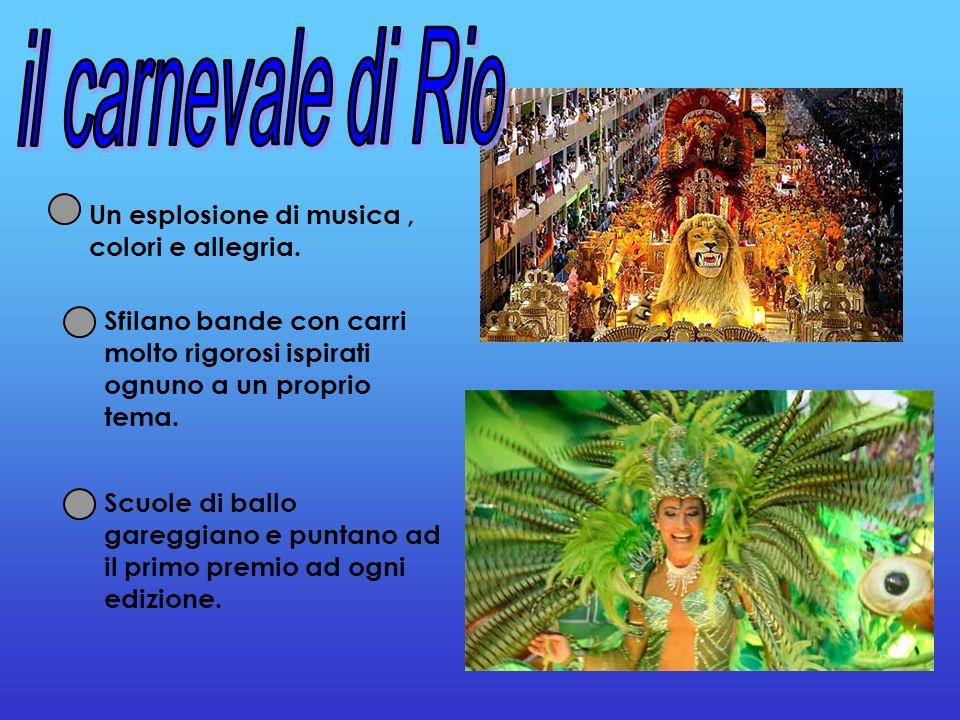 il carnevale di Rio Un esplosione di musica , colori e allegria.