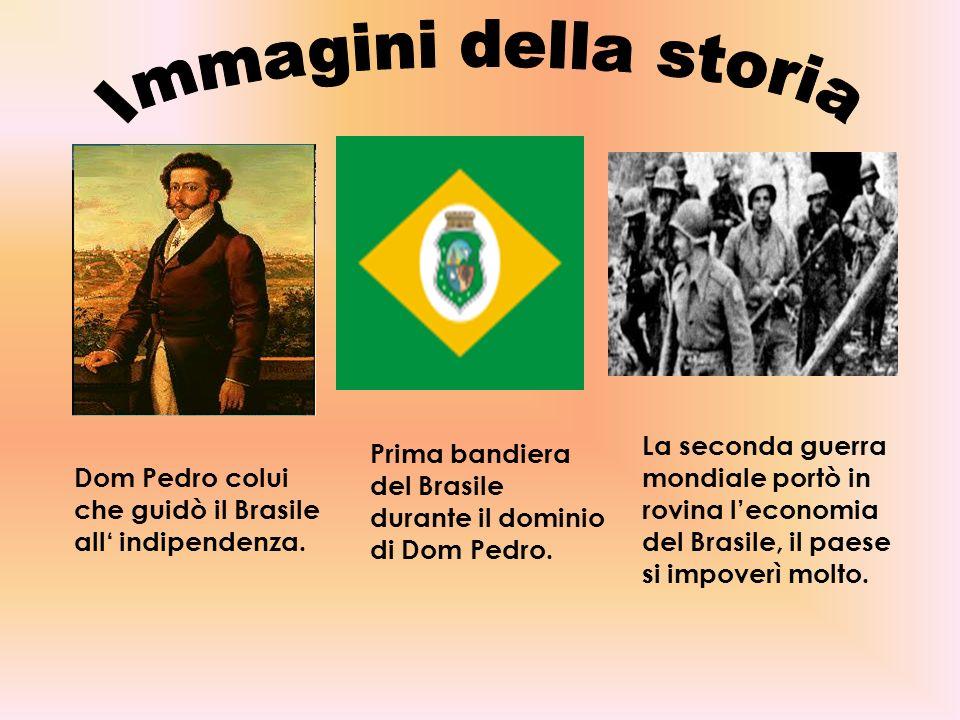 Immagini della storia La seconda guerra mondiale portò in rovina l'economia del Brasile, il paese si impoverì molto.