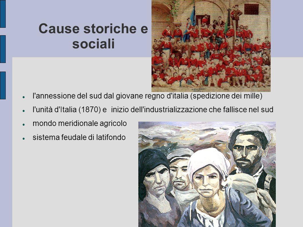 Cause storiche e sociali