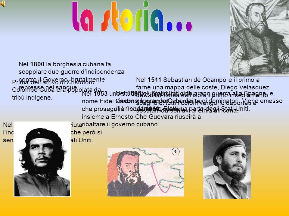 La storia... Nel 1800 la borghesia cubana fa scoppiare due guerre d'indipendenza contro il Governo, brutalmente represse nel sangue.