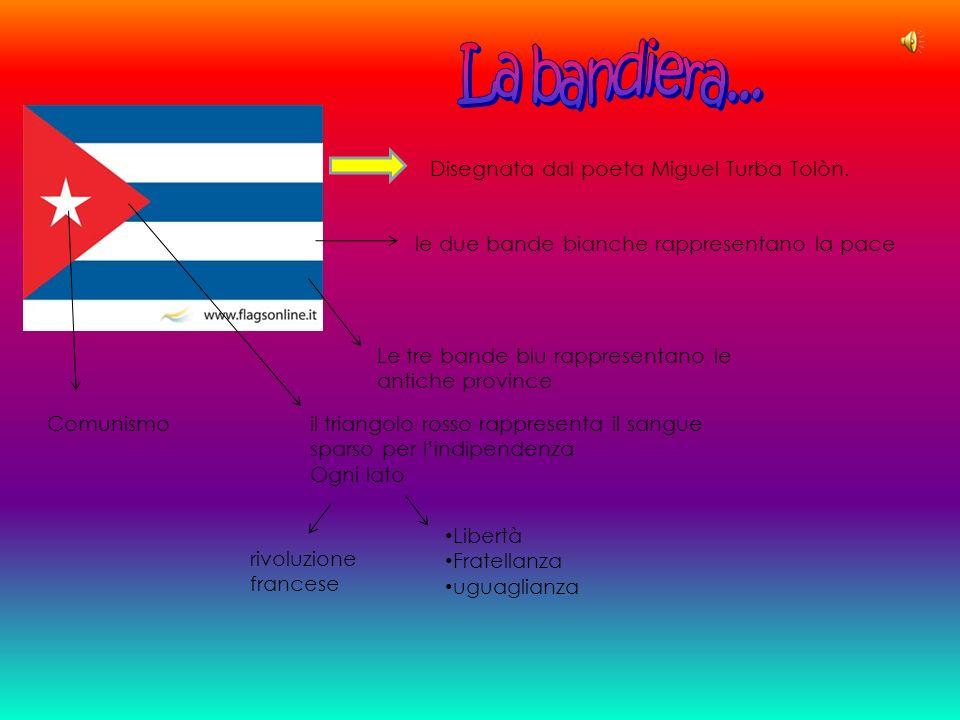 La bandiera... Disegnata dal poeta Miguel Turba Tolòn.