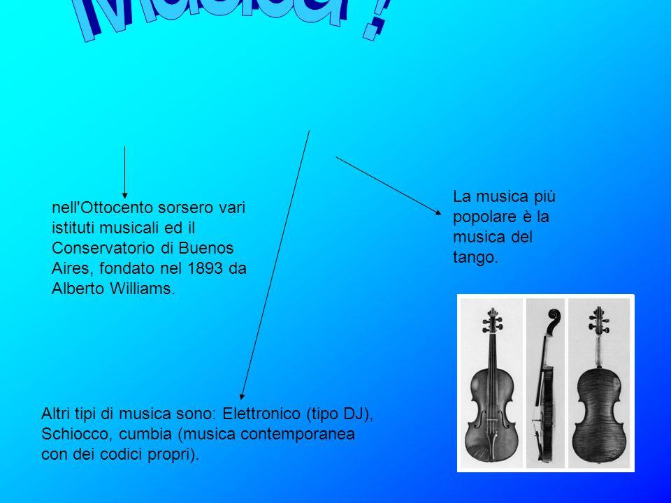 Musica ! La musica più popolare è la musica del tango.