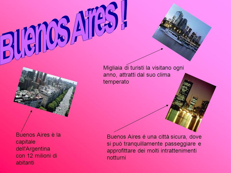 Buenos Aires ! Migliaia di turisti la visitano ogni anno, attratti dal suo clima temperato.