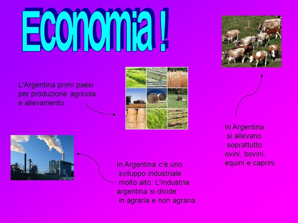 Economia ! L Argentina primi paesi per produzione agricola