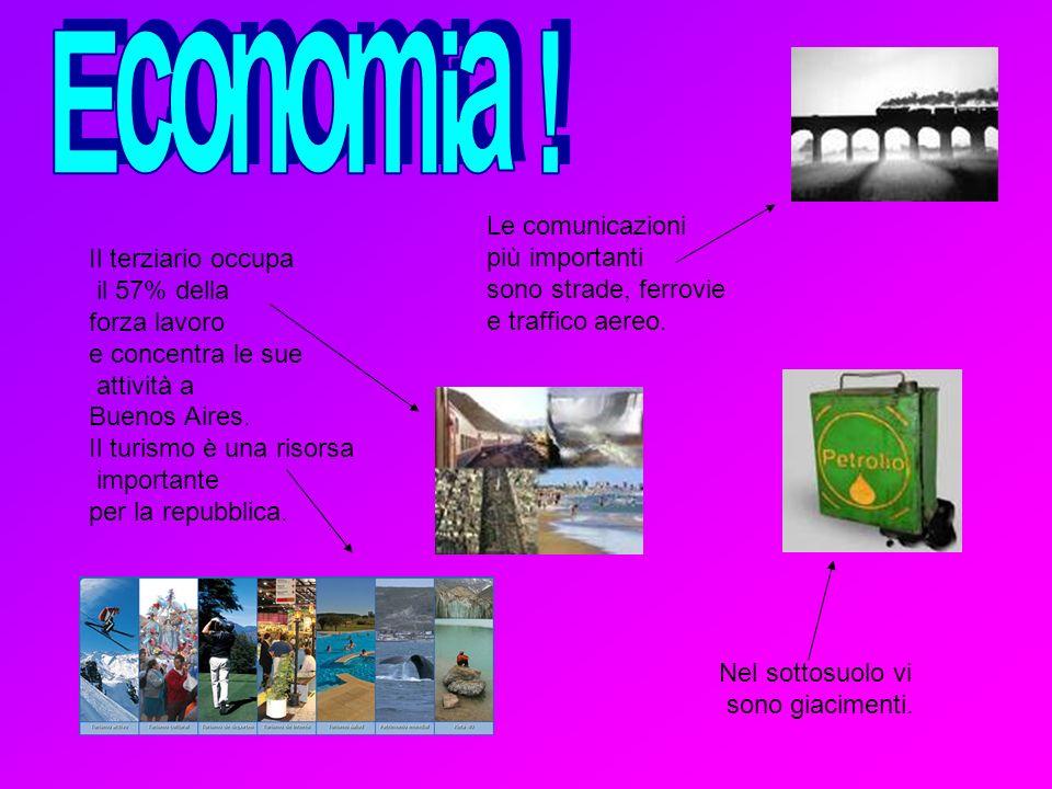Economia ! Le comunicazioni più importanti Il terziario occupa