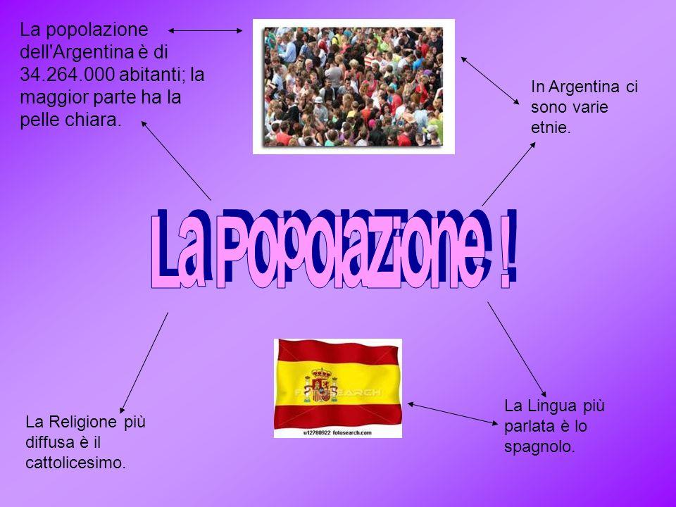 La popolazione dell Argentina è di 34. 264