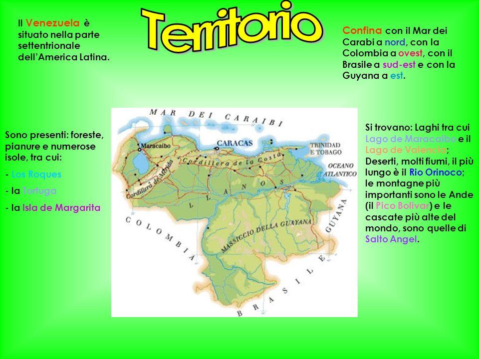 Territorio Il Venezuela è situato nella parte settentrionale dell'America Latina.
