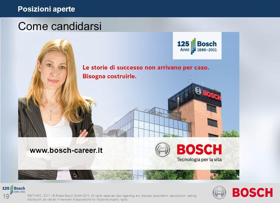 Come candidarsi Posizioni aperte www.bosch-career.it