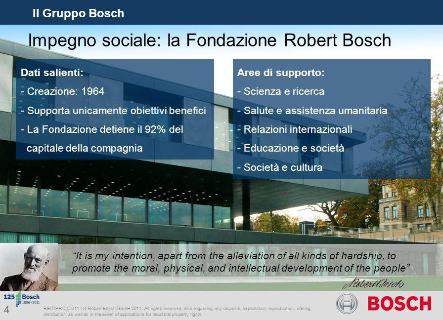 Impegno sociale: la Fondazione Robert Bosch