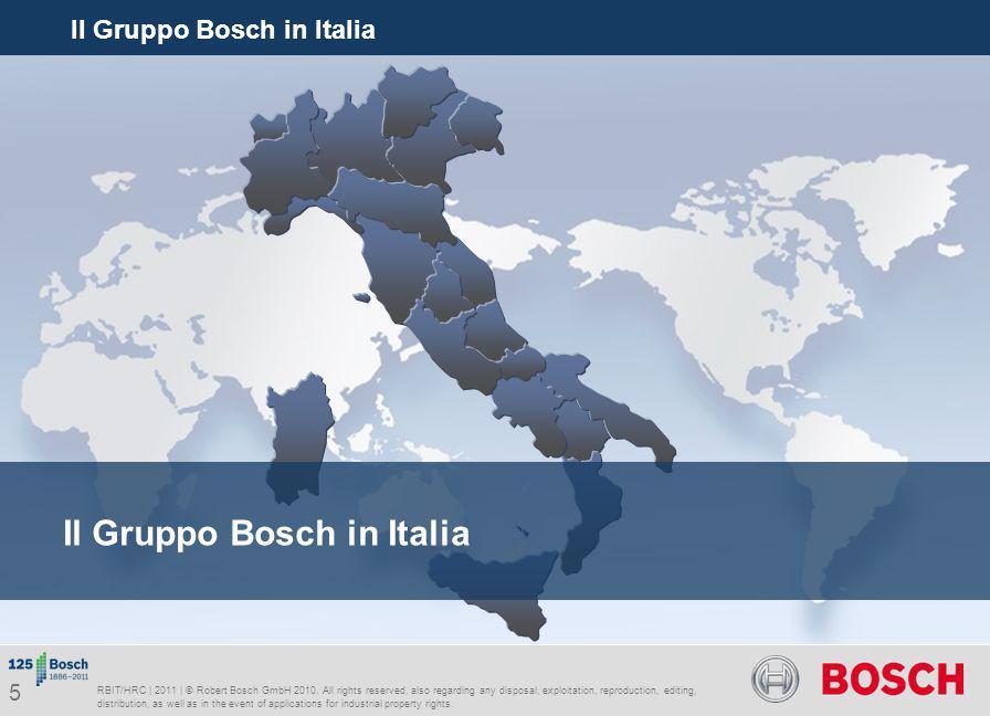 Il Gruppo Bosch in Italia