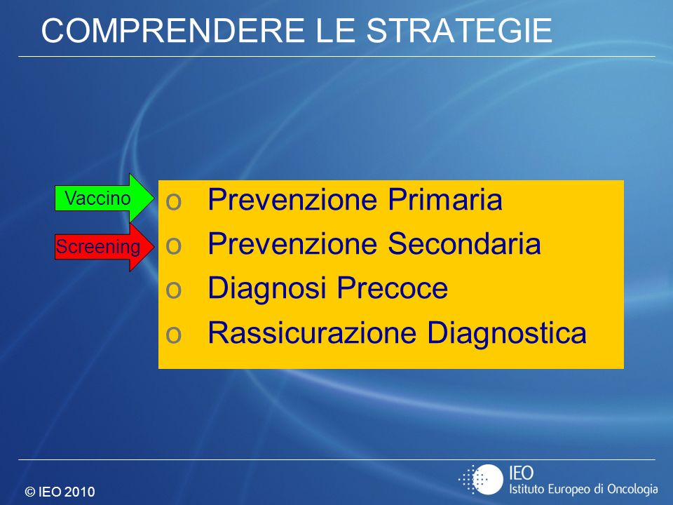 COMPRENDERE LE STRATEGIE