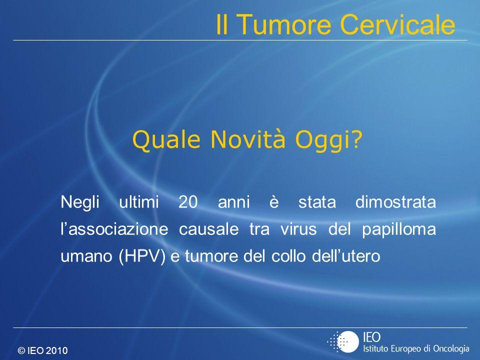 Il Tumore Cervicale Quale Novità Oggi