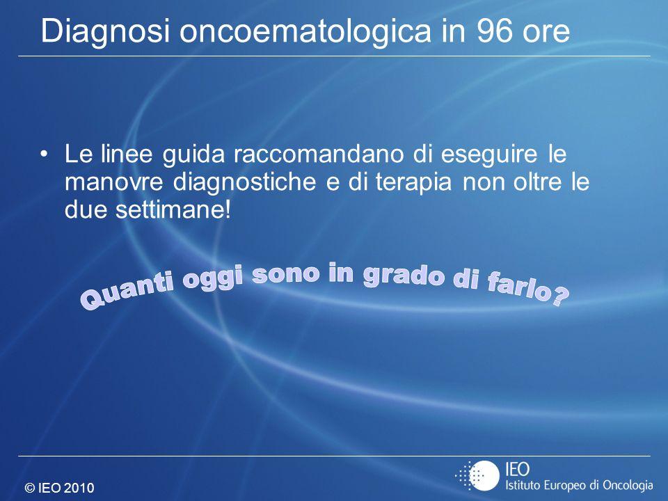 Diagnosi oncoematologica in 96 ore