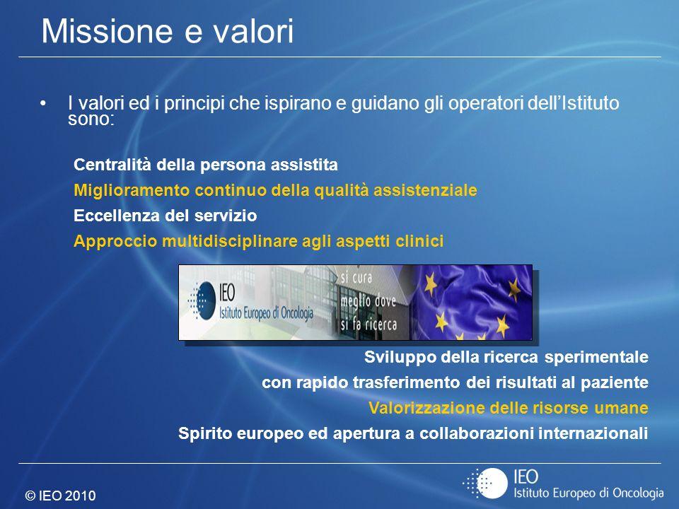 Missione e valori I valori ed i principi che ispirano e guidano gli operatori dell'Istituto sono: Centralità della persona assistita.