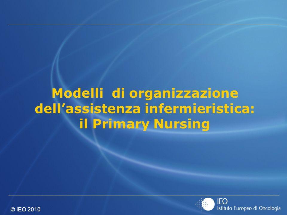 Modelli di organizzazione dell'assistenza infermieristica: il Primary Nursing