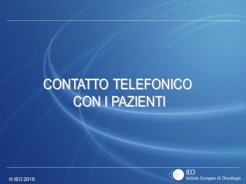 CONTATTO TELEFONICO CON I PAZIENTI