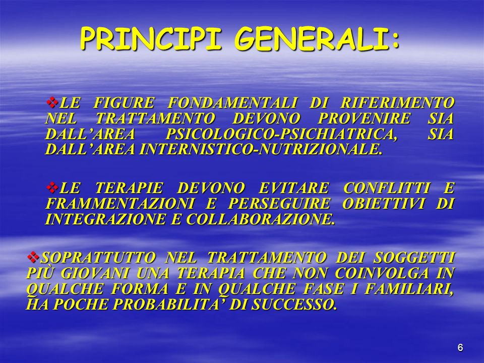 PRINCIPI GENERALI: