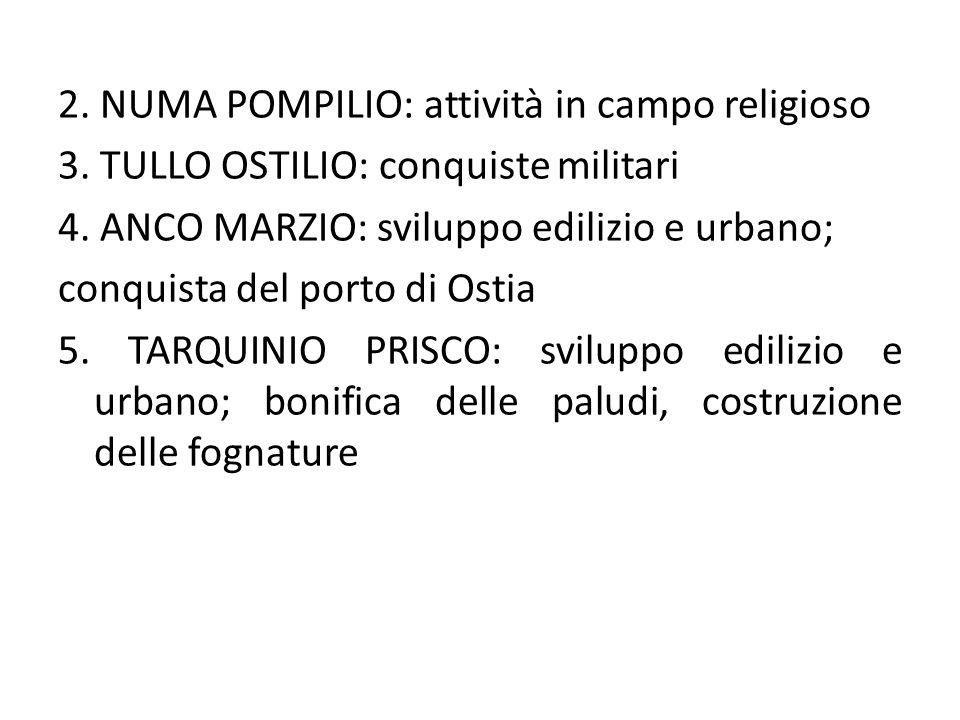 2. NUMA POMPILIO: attività in campo religioso 3