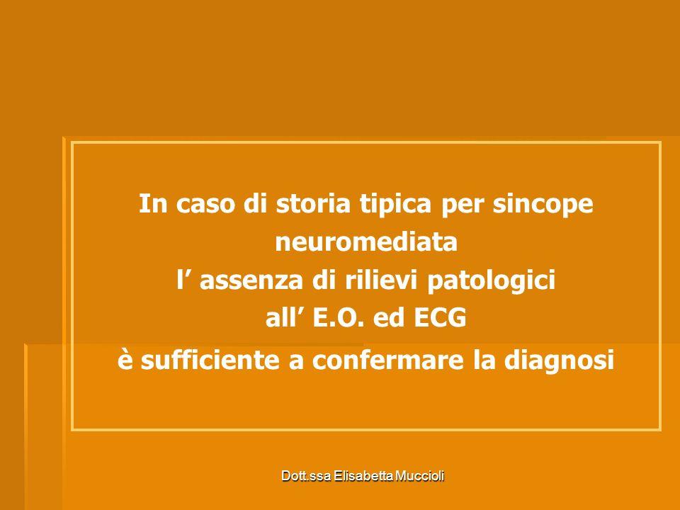 In caso di storia tipica per sincope neuromediata