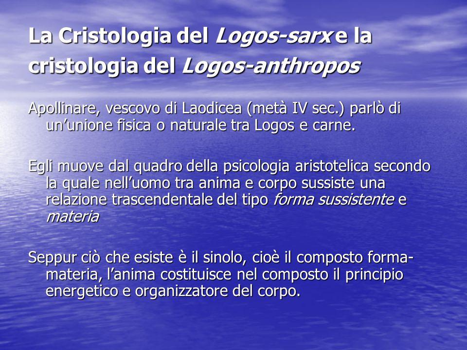 La Cristologia del Logos-sarx e la cristologia del Logos-anthropos