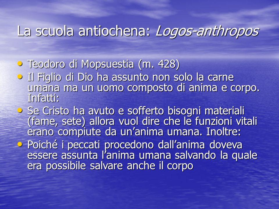 La scuola antiochena: Logos-anthropos