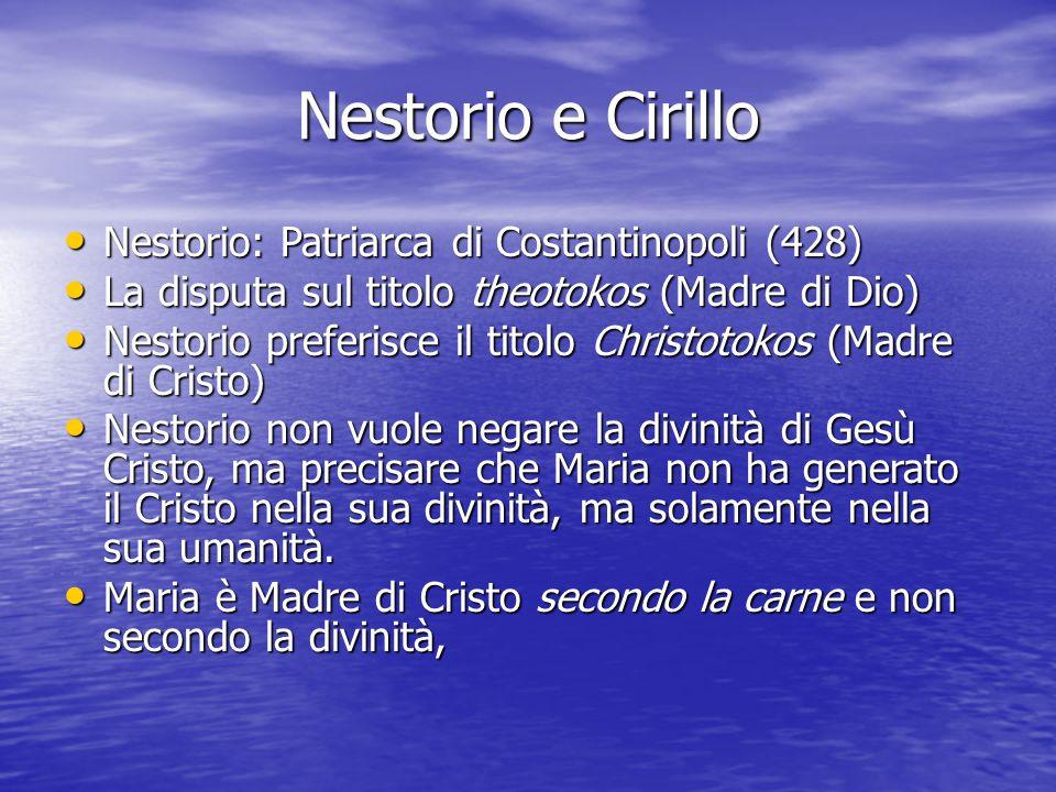 Nestorio e Cirillo Nestorio: Patriarca di Costantinopoli (428)