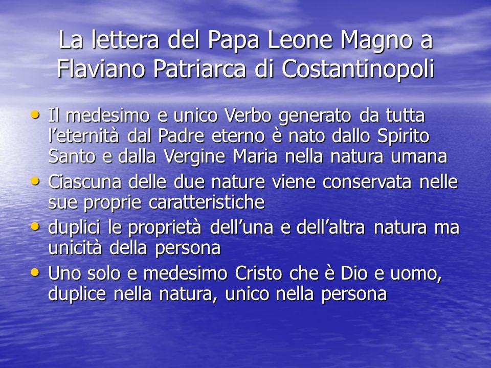 La lettera del Papa Leone Magno a Flaviano Patriarca di Costantinopoli