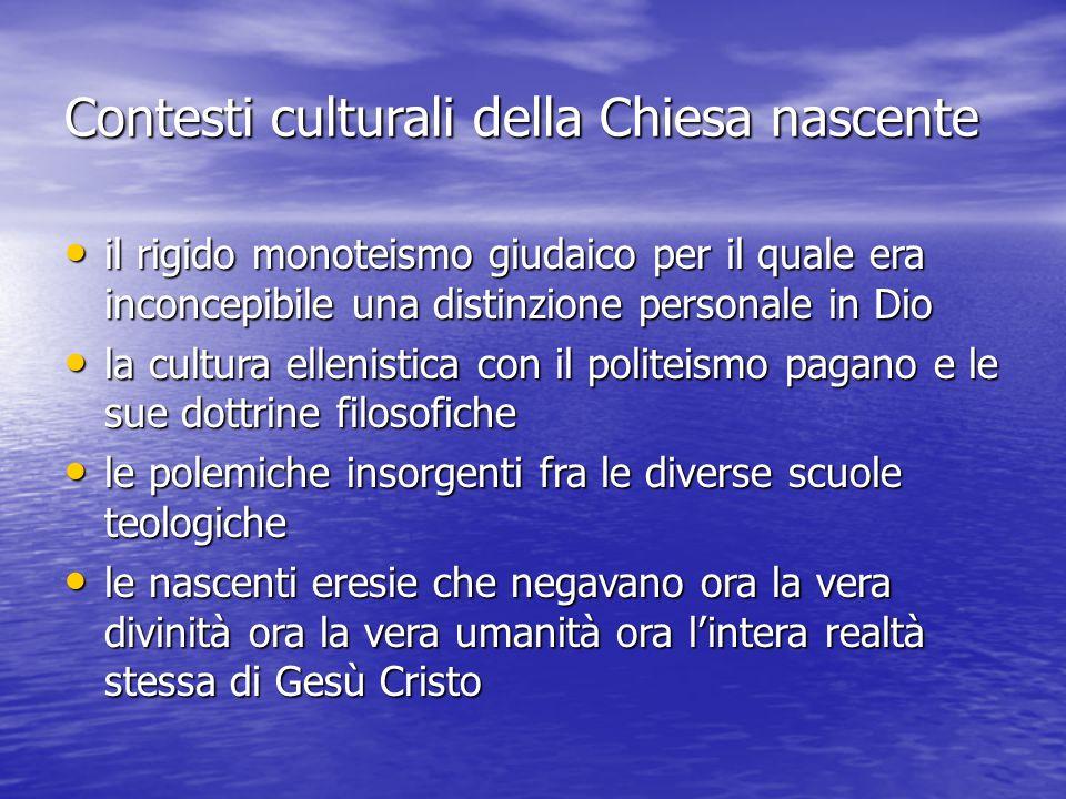 Contesti culturali della Chiesa nascente