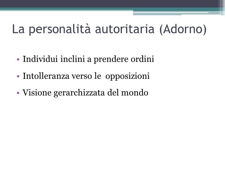 La personalità autoritaria (Adorno)