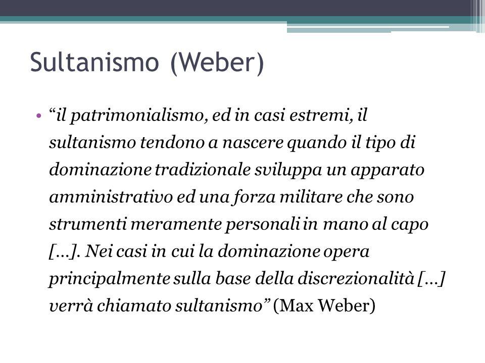 Sultanismo (Weber)